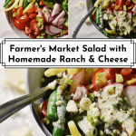 3 images of Fmarmer's Market Salad with Homemade Ranch and Pecorino for Pinterest