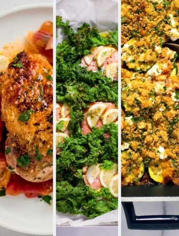 3 images of Mother's Day dinner ideas