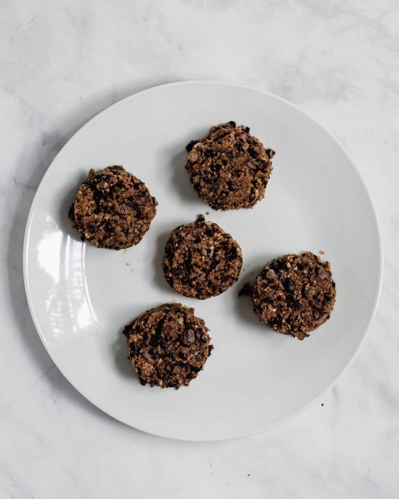 black bean burgers on a plate